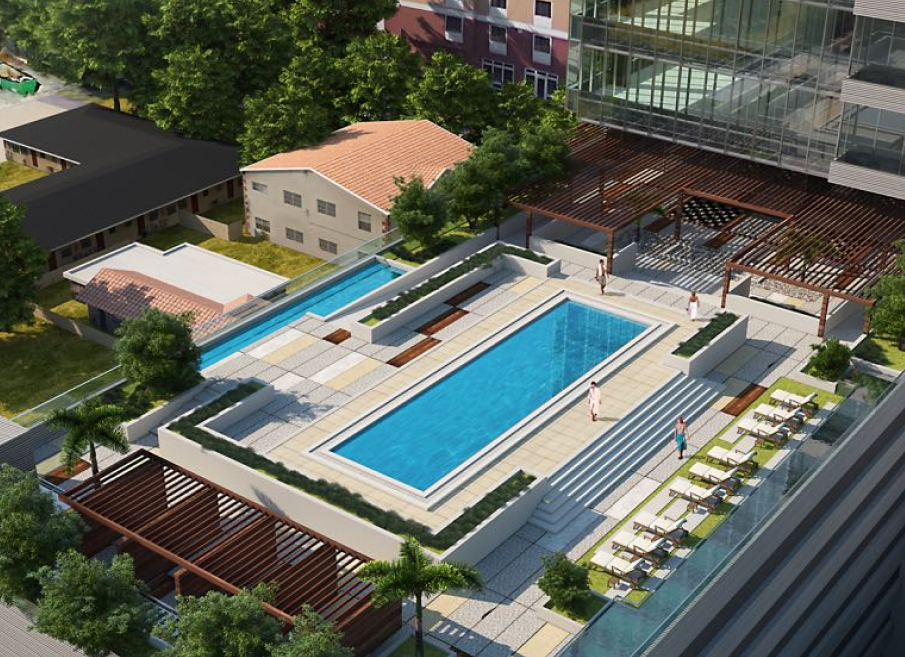 Rooftop and amenity deck with beautiful views